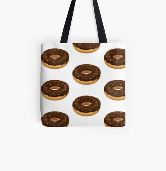 Donut con fideos de colores Bolsa estampada de tela