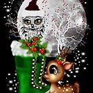 The Owl, the Reindeer and Santa`s Boots by LoneAngel