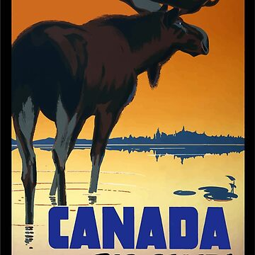 Vintage Travel Poster Canada by G-Design