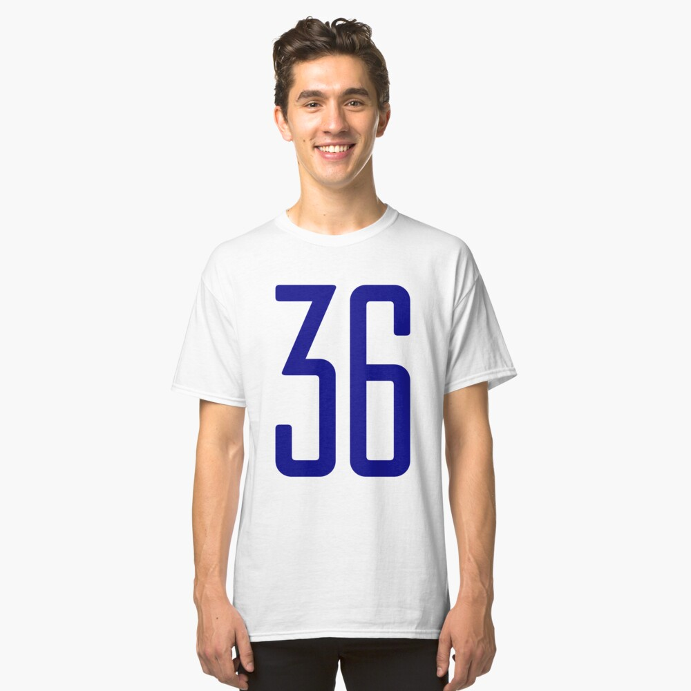 Tall blue number 36 Classic T-Shirt Front