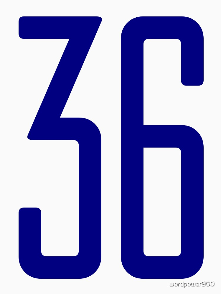 Tall blue number 36 by wordpower900