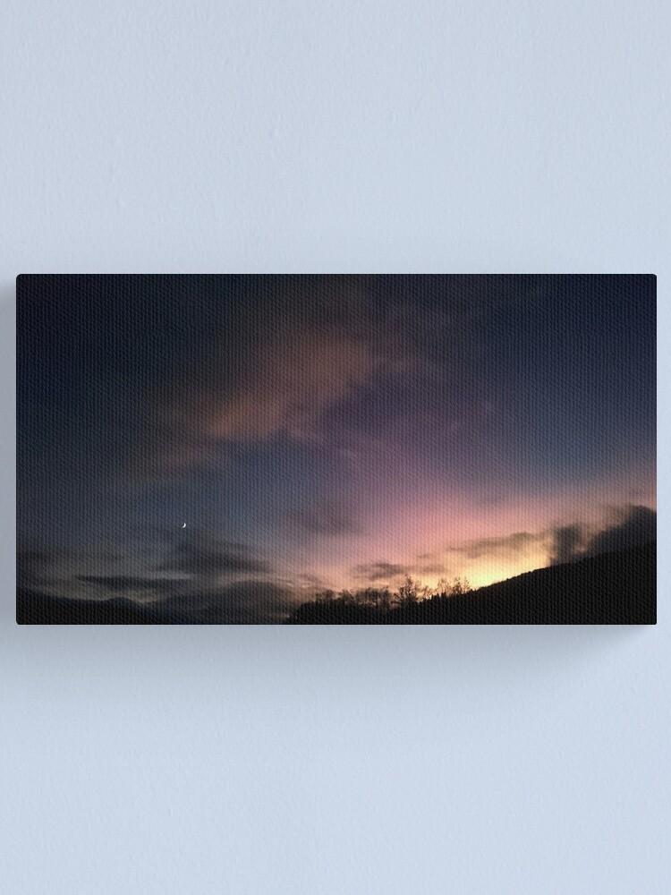 Alternate view of Evening Sky Canvas Print