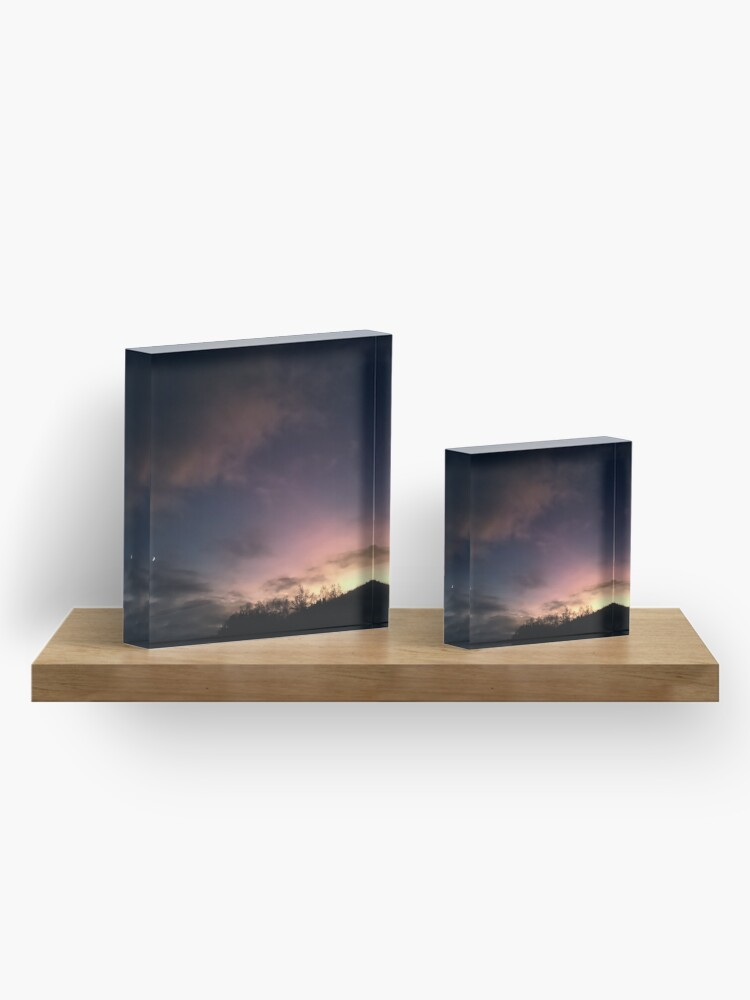 Alternate view of Evening Sky Acrylic Block