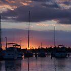 Sunset at Lakes Entrance by Vickie Burt