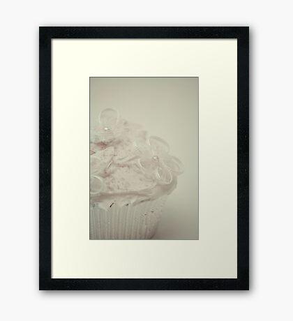 White Cupkake Framed Print