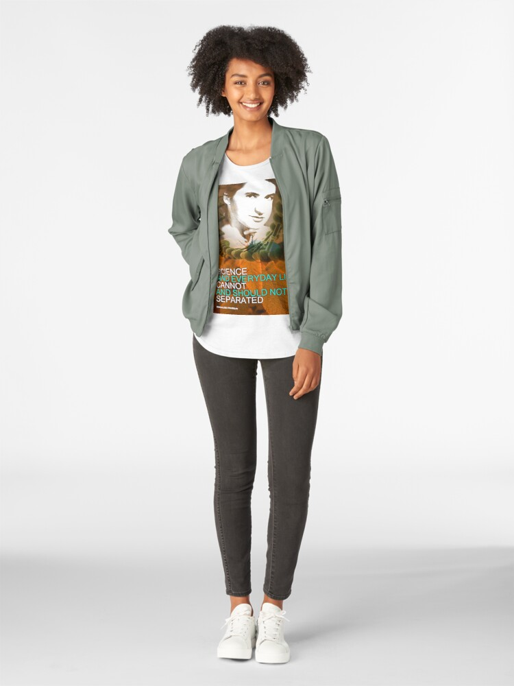 Alternate view of Rosalind Franklin Inspirational Quote Premium Scoop T-Shirt