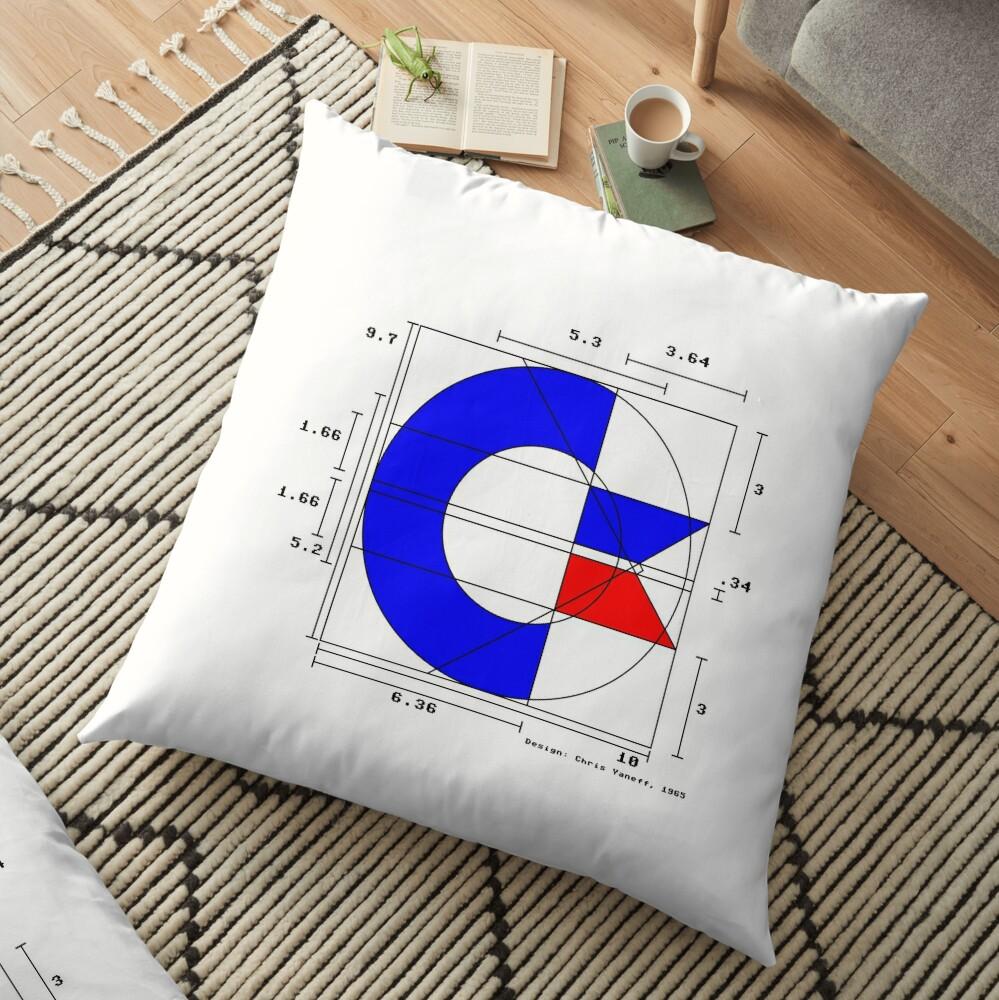 the almighty C (light) Floor Pillow