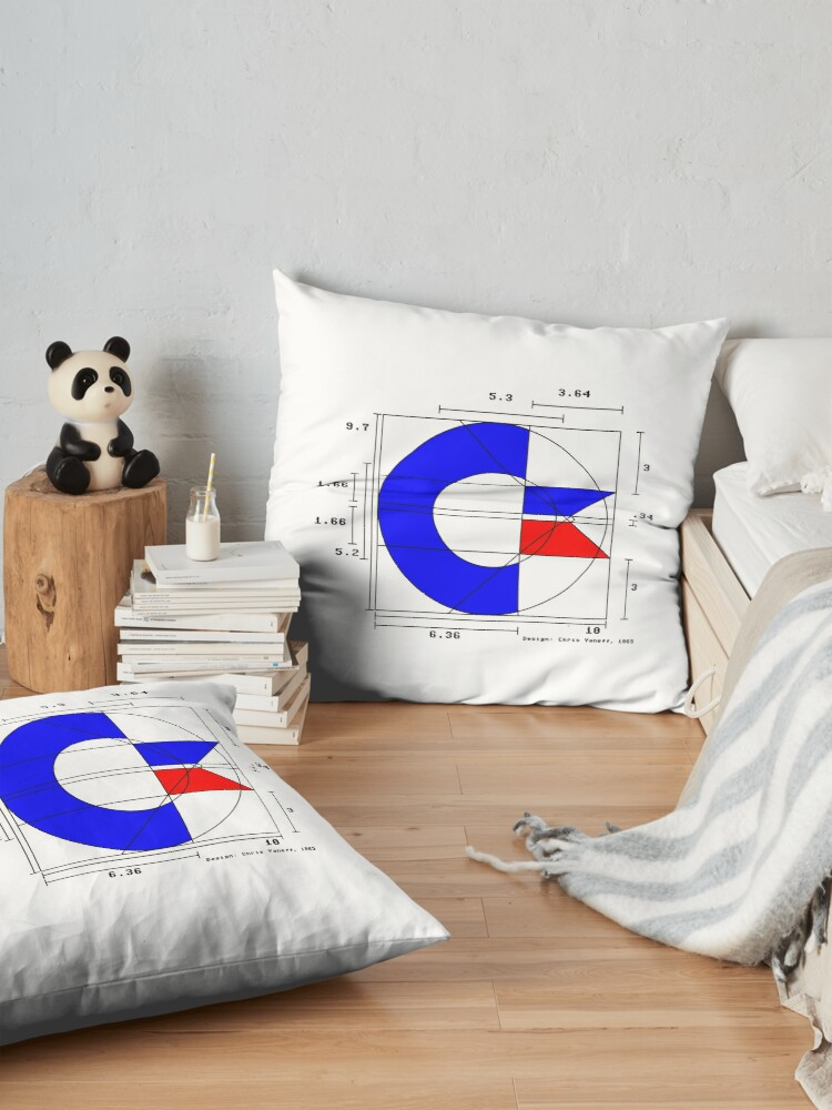 Alternate view of the almighty C (light) Floor Pillow