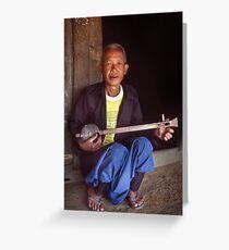 Tribal Elder, Thailand Greeting Card