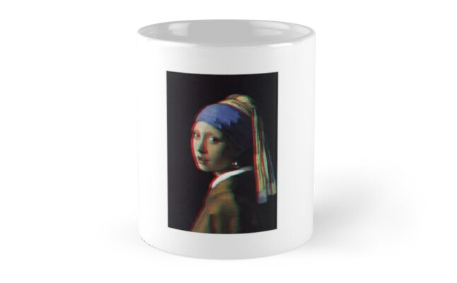 Girl With A Pearl Earring 3D Classic Mugs