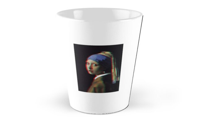 Girl With A Pearl Earring 3D Classic Mugs - Tall