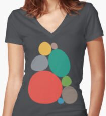 Pebbles Women's Fitted V-Neck T-Shirt