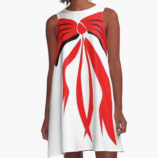 Große Rote Schleife  A-Linien Kleid