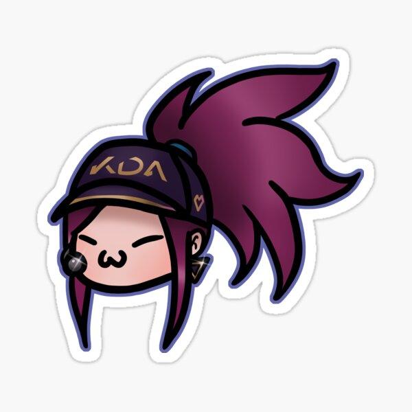 Kda Akali Cute Head Sticker By Slmy Redbubble