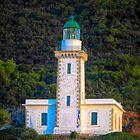 Sunlit Lighthouse by Viv Thompson