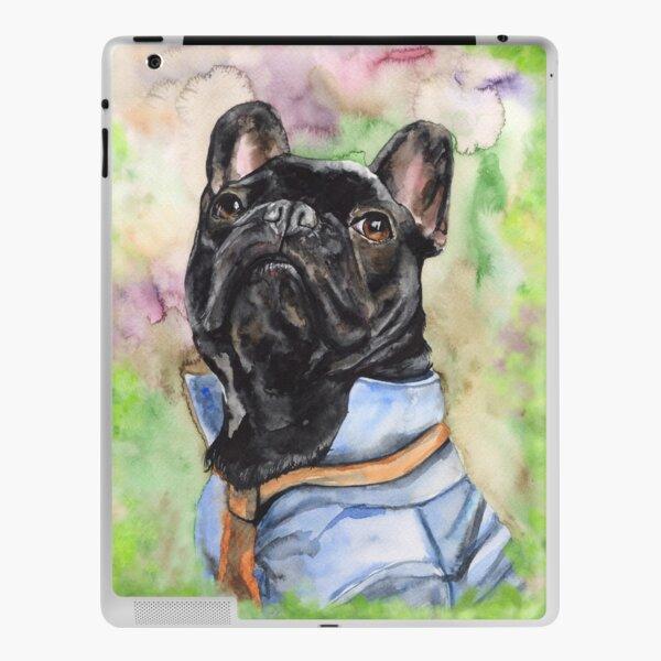 French Bulldog watercolor art from George Dyachenko  iPad Skin