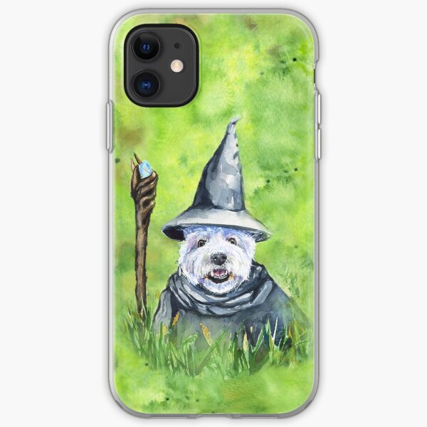 Westie. You shall not pass. watercolor art from George Dyachenko  iPhone Soft Case