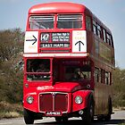 Classic British Red Bus by The Transport Lens