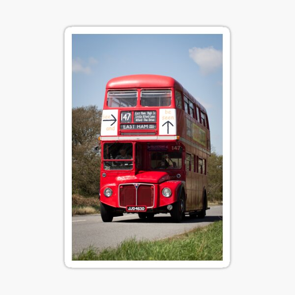 Classic British Red Bus Sticker