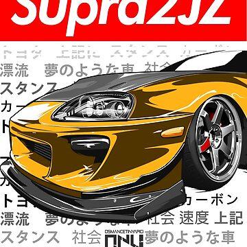 Toyota Supra MK4 2JZ (Yellow) by osmancetinyapic