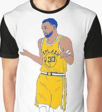 Steph Curry Achselzucken zucken Grafik T-Shirt