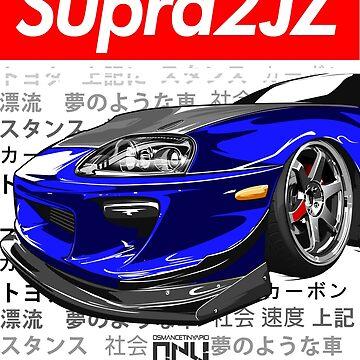 Toyota Supra MK4 2JZ (Blue) by osmancetinyapic