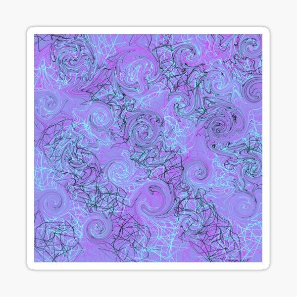 Swirls and squares Of purples  Sticker