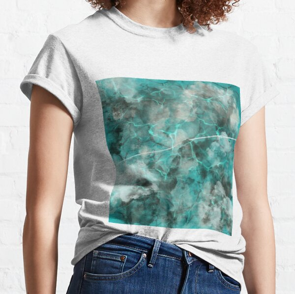Marble of Teals and Oceans Classic T-Shirt