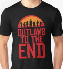Outlaws to the end T-shirt - Red Dead Redemption T-shirt Unisex T-Shirt