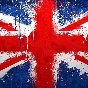 Union Jack Flag - Grunge by GrizzlyGaz