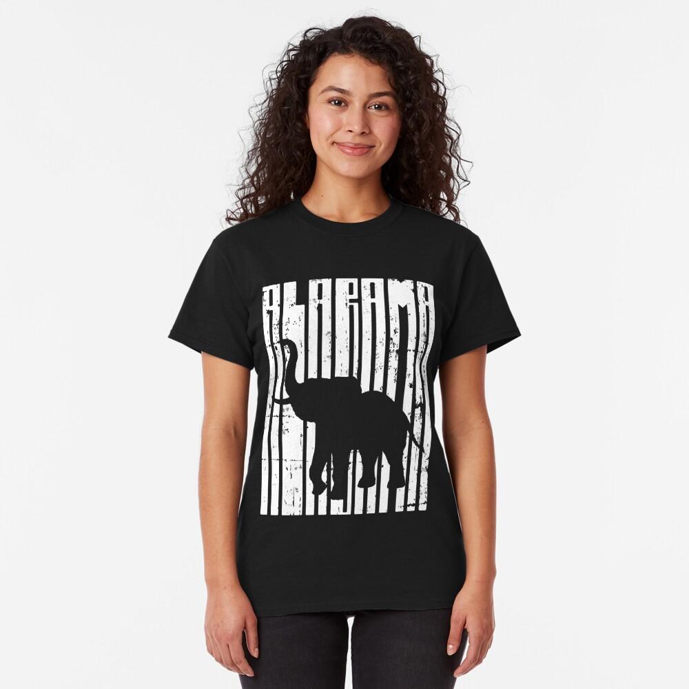 Vintage Distressed Alabama Elephant Apparel and Decor Classic T-Shirt
