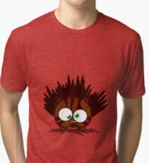 Hedgehog (no text) Tri-blend T-Shirt