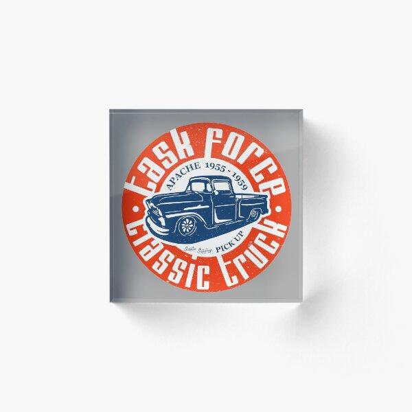 Task Force Apache Classic Truck 1955 - 1959 Acrylic Block
