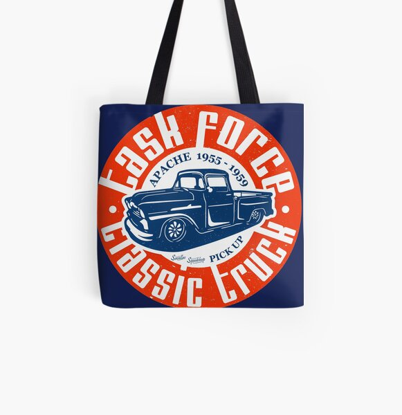 Task Force Apache Classic Truck 1955 - 1959 All Over Print Tote Bag