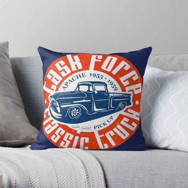 Task Force Apache Classic Truck 1955 - 1959 Throw Pillow