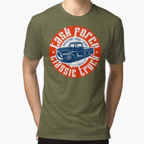 Task Force Apache Classic Truck 1955 - 1959 Tri-blend T-Shirt