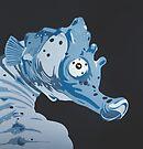 Seahorse DEEP BLUE SEA by Mirjam Griffioen