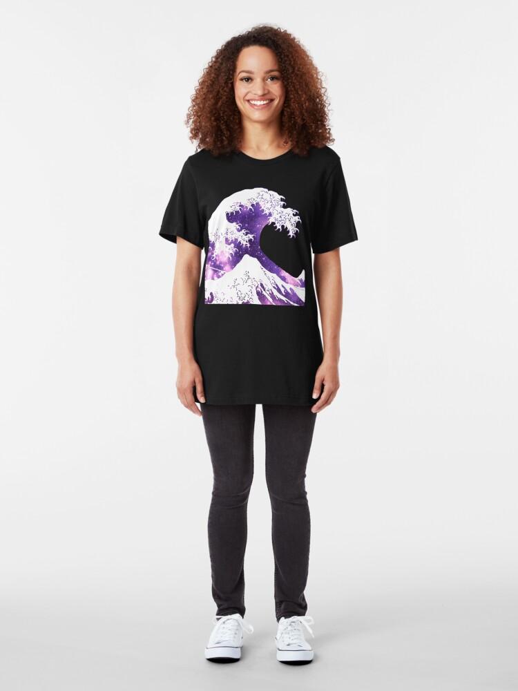 Alternative Ansicht von Große Welle Slim Fit T-Shirt