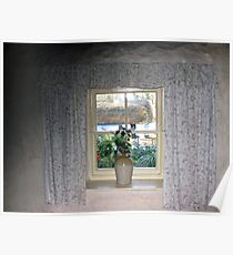 Cottage Window View Poster