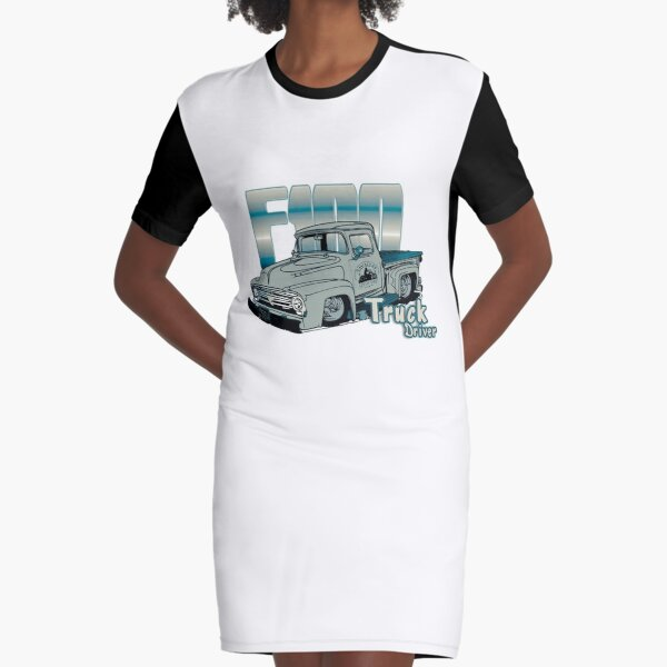 Ford F100 Truck Driver 1953 - 1956 Graphic T-Shirt Dress