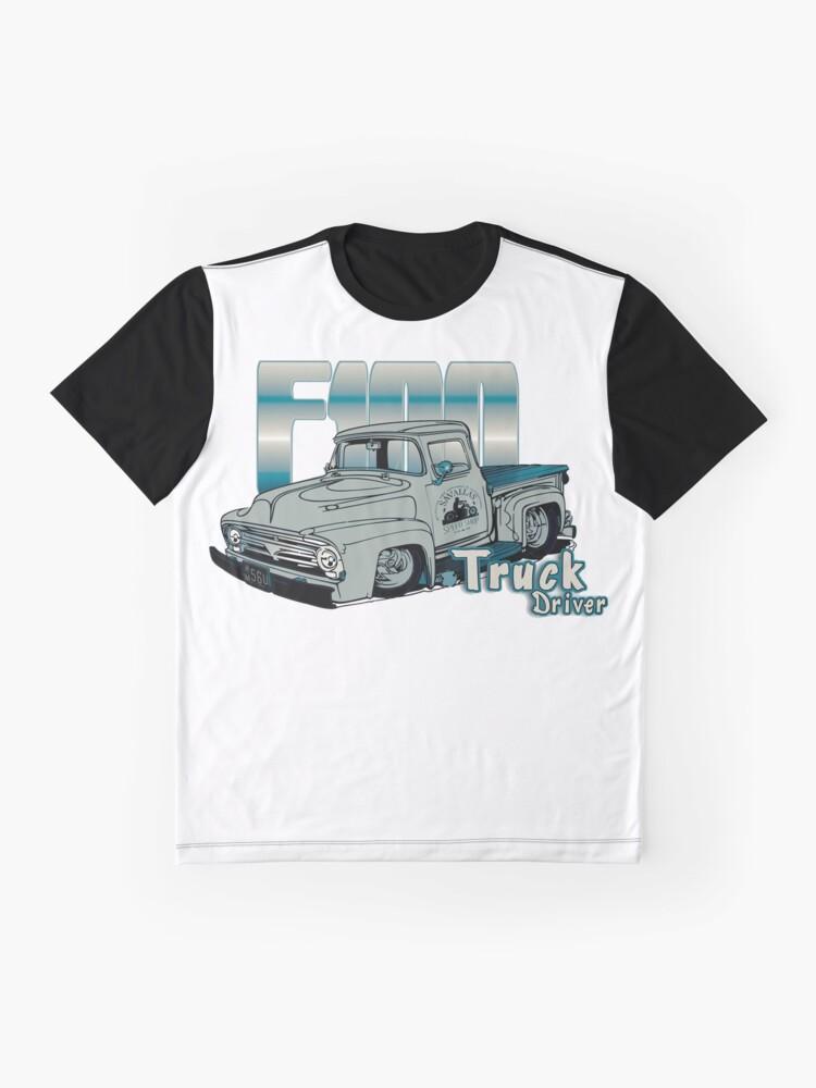 Alternative Ansicht von Ford F100 Truck Driver 1953 - 1956 Grafik T-Shirt