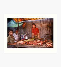 Rangoon Meat Market Art Print