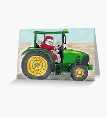 Deere Santa Greeting Card