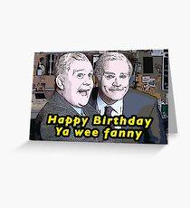 """Still Game inspirierte Jack und Victor """"Happy Birthday ya wee fanny"""", lustige Geburtstagskarte, schottisch Grußkarte"""