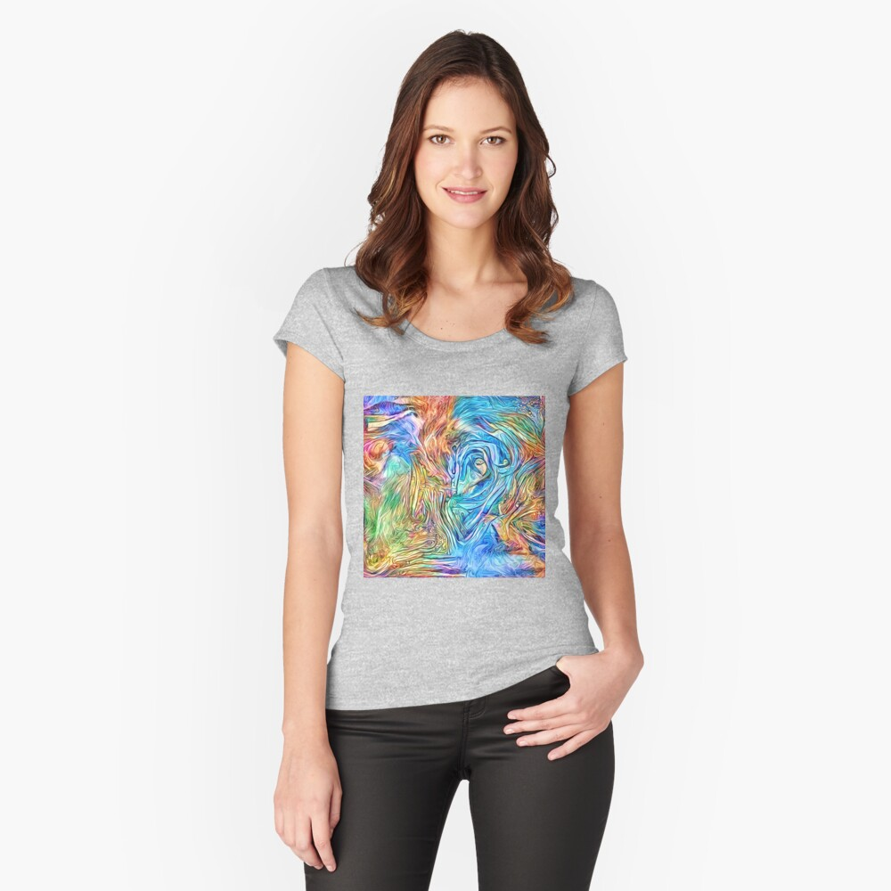 Abstract stream dreams Fitted Scoop T-Shirt
