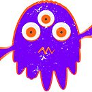 Radioactive Distressed Little Purple Monster by Almdrs