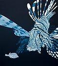 Lionfish DEEP BLUE SEA by Mirjam Griffioen