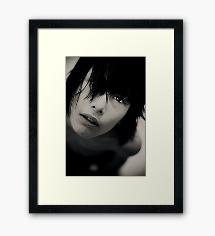 right where it belongs Framed Print