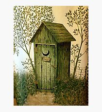 """""""His"""" Kountry Outhouse Photographic Print"""