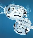 Pufferfish DEEP BLUE SEA by Mirjam Griffioen